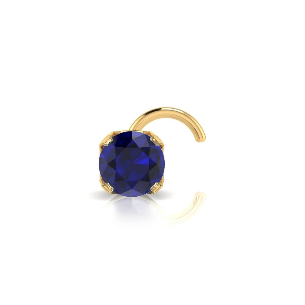 Superjeweler 0 015ct 1 5mm Sapphire Stud Nose Ring In 14k Yellow Gold From Overstock Com Daily Mail