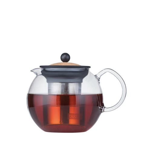 Bodum ASSAM Tea press with s/s filter, 1.0 l, 34 oz, Cork