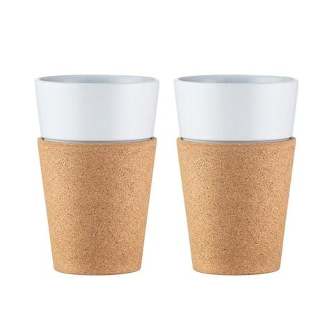 Bodum BISTRO 2 pcs mug with Cork Sleeve 0.6l, Cork