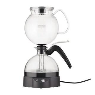 Bodum ePEBO Coffee Maker, Electric Vacuum Coffee Maker, Siphon Coffee Brewer, 34oz, Black