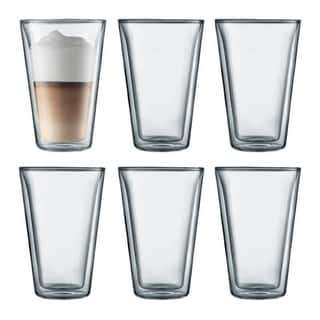 Bodum CANTEEN 6 pcs glass, double wall, large, 0.4 l, 13.5 oz, Clear