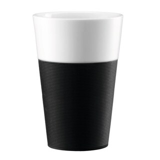 Bodum BISTRO 2 pcs mug with Silicone Sleeve 0.6l, Black