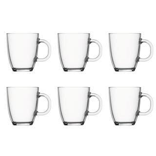 Bodum BISTRO 6 pcs coffee mug, 0.35 l, 12 oz, clear