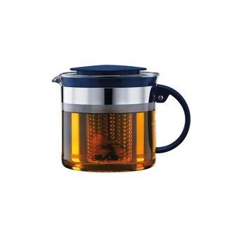 Bodum BISTO NOUVEAU Tea Pot, 1.0 L, 34 oz, Navy
