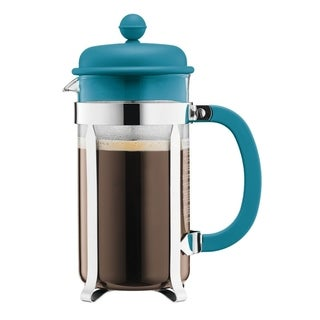 Bodum CAFFETTIERA French Press Coffee Maker, 8 Cup, 1L, 34oz, Torquoise