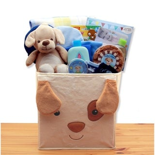Puppy Tails  New Baby Gift Basket