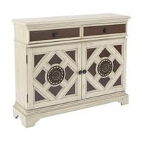 Inspired  by Bassett Queensway Storage Cabinet in Antique White