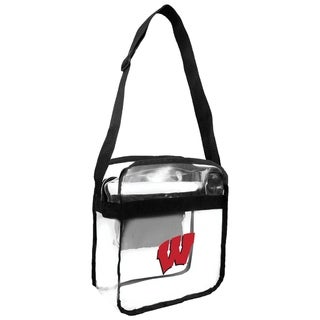 University of Wisconsin Badgers NCAA Clear Carryall Cross Body Bag - multi