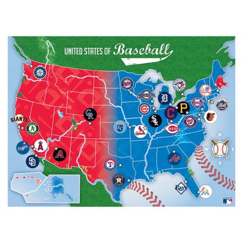 MLB USA 500-Piece Puzzle Map - Multi