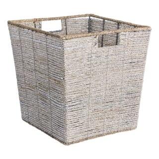 DII Trapezoidal Woven Seagrass Decorative Storage Bin