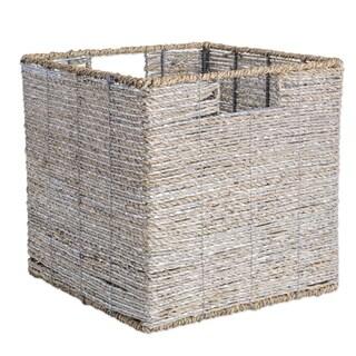 """DII Woven Seagrass Decorative Storage Cube - 11"""" x 11"""" x 11"""""""