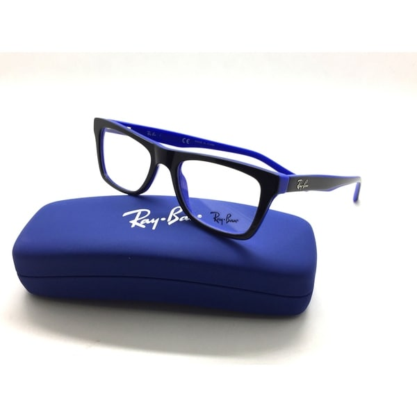df16f46e0c Ray-Ban RB 5289 5179 Black Blue Designer Wayfarer Eyeglasses Junior Tween
