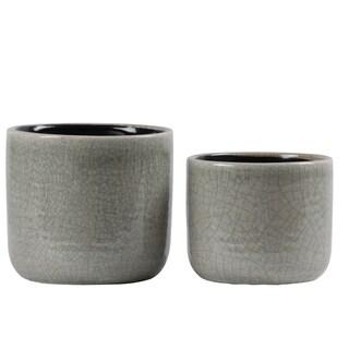 UTC59602 Ceramic Pot Gloss Finish Green