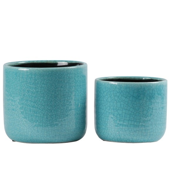 UTC59603 Ceramic Pot Gloss Finish Turquoise