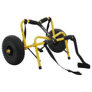 RAD Sportz Kayak Trolley Pro Premium Kayak Cart Airless Tires 150 LB Cap Yellow