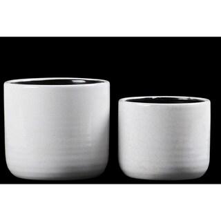 UTC59600 Ceramic Pot Gloss Finish White