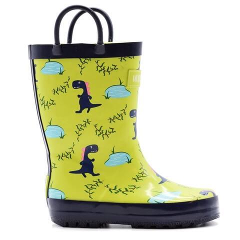 Mucky Wear Kids' Waterproof Patterned Loop Boot