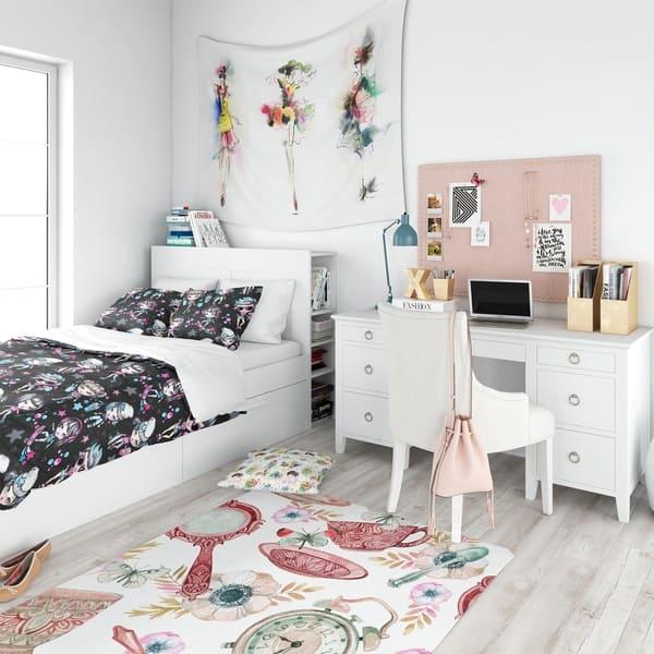 Designart Fashion Teenagers Glamorous Sport Girls Modern Teen Bedding Set Duvet Cover Shams Overstock 23506225