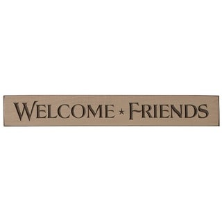 Rustic Wall Sign - Welcome Friends - cappuccino