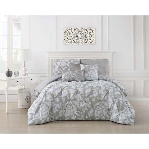 The Gray Barn Drum Cloondance Pinch Pleat 6-piece Comforter Set