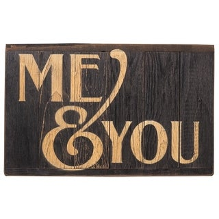 Rustic Reminders Wall Sign - Me & You - Black