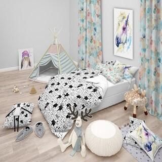 Designart - Cats Pattern - Modern Teen Duvet Cover Set