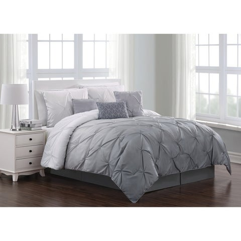 Bergen Ombre Pinch Pleat 7-piece Comforter Set
