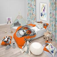 Designart 'Monkey with Mirror Sunglasses' Tropical Bedding Set - Duvet Cover & Shams