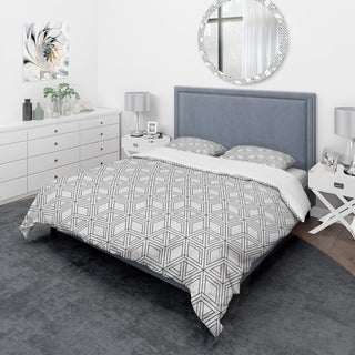 Designart - Geometric Pattern in Op Art Design - Scandinavian Duvet Cover Set
