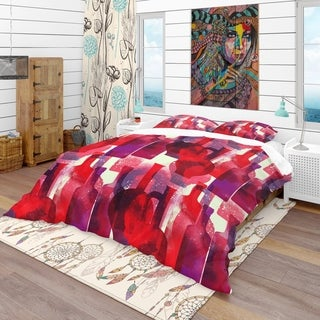 Designart - Imprints of Wine Bottles - Bohemian & Eclectic Duvet Cover Set