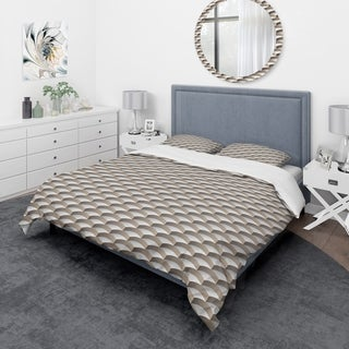 Designart - Abstract Scale 3D Pattern - Scandinavian Duvet Cover Set