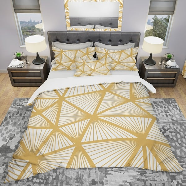 Designart 'Art Deco Geometric Decorative Pattern' Modern Bedding Set - Duvet Cover & Shams