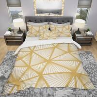 Designart 'Art Deco Geometric Decorative Pattern' Modern Bedding Set - Duvet Cover & Shams
