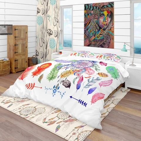 Designart 'Indian Dream Catcher' Southwestern Bedding Set - Duvet Cover & Shams