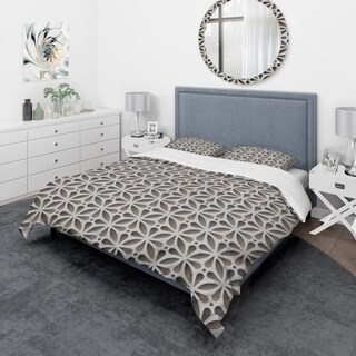 Designart - Grey Abstract Pattern - Scandinavian Duvet Cover Set