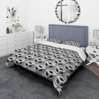 Designart - 3D Lattice Pattern - Scandinavian Duvet Cover Set