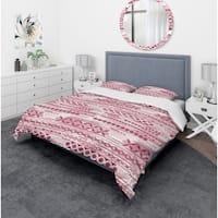 Designart 'Irregular Pattern' Bohemian & Eclectic Bedding Set - Duvet Cover & Shams