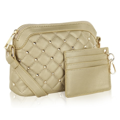 MKF Collection Tianna Quilted Crossbody Bag with by Mia K.