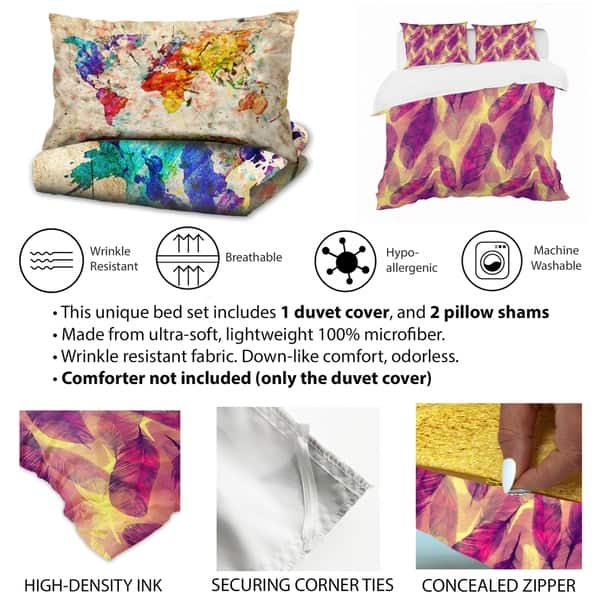 Designart Retro Abstract Geometric Pattern Mid Century Modern Bedding Set Duvet Cover Shams Overstock 23506426