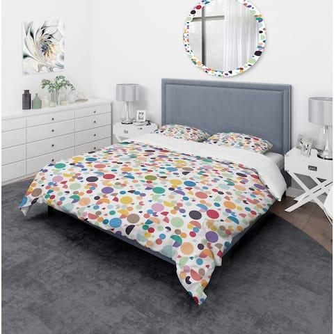 Designart 'Retro Abstract Geometric Pattern' Mid-Century Modern Bedding Set - Duvet Cover & Shams