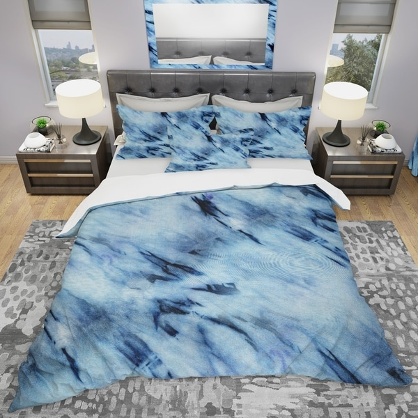 Designart 'Tie Dye' Modern & Contemporary Bedding Set - Duvet Cover & Shams