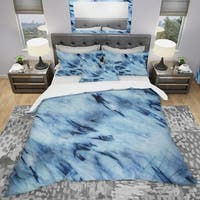 Designart 'Tie Dye' Modern & Contemporary Bedding Set - Duvet Cover & Shams