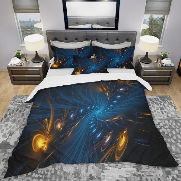 Designart 'Illumination' Modern & Contemporary Bedding Set - Duvet Cover & Shams