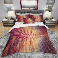 Designart 'In Sync' Modern & Contemporary Bedding Set - Duvet Cover & Shams