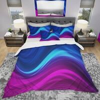 Designart 'Synchronicity' Modern & Contemporary Bedding Set - Duvet Cover & Shams