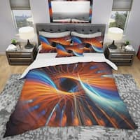 Designart 'Centered' Modern & Contemporary Bedding Set - Duvet Cover & Shams