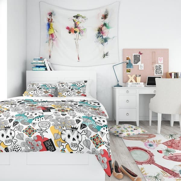 Shop Designart Whales Pattern Teen Bedding Set Duvet Cover Shams On Sale Overstock 23506611