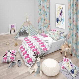 Designart - Elephant Pattern - Tropical kids Duvet Cover Set