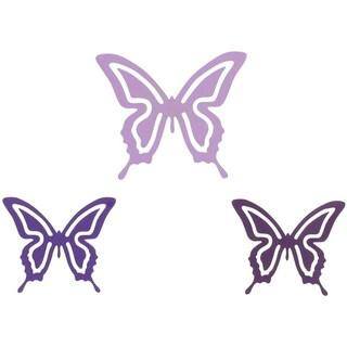 Evideco Metal Butterfly With Magnet Luzia Set of 3 - White/Black