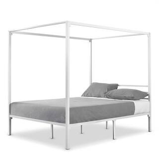 Priage by Zinus Metal Framed Canopy Four Poster Platform Bed Frame